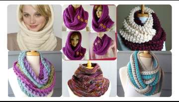 Comfortable Knitted Neck Collar Making